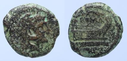 Ancient Coins - ROMAN REPUBLIC. Unofficial Issue. Anonymous Æ-Quadrans, after 211 BC; Rome mint.
