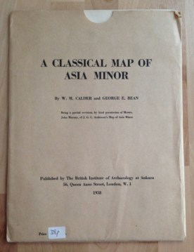 M  CALDER  G  BEAN   A CLASSICAL MAP OF ASIA MINOR  1958