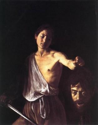 Le Caravage David & Goliath