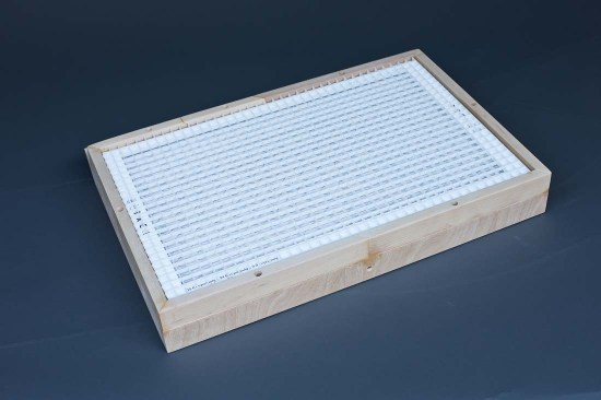 Complete filter frame and egg crate sandwich