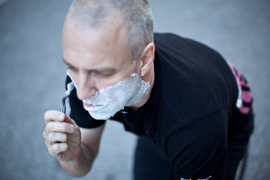 Shaving by Bicycle