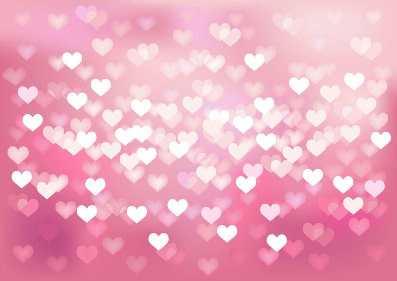Glowing Bokeh Hearts Wedding Background Vector Download