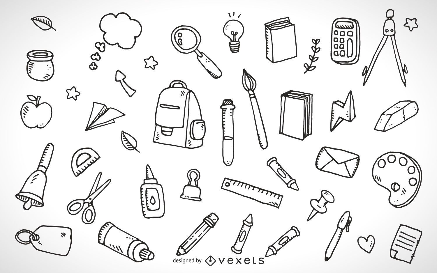 School Supplies Elements Outline