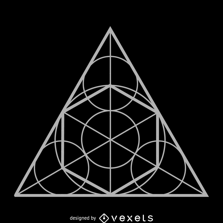 Circle Triangle Sacred Geometry Design