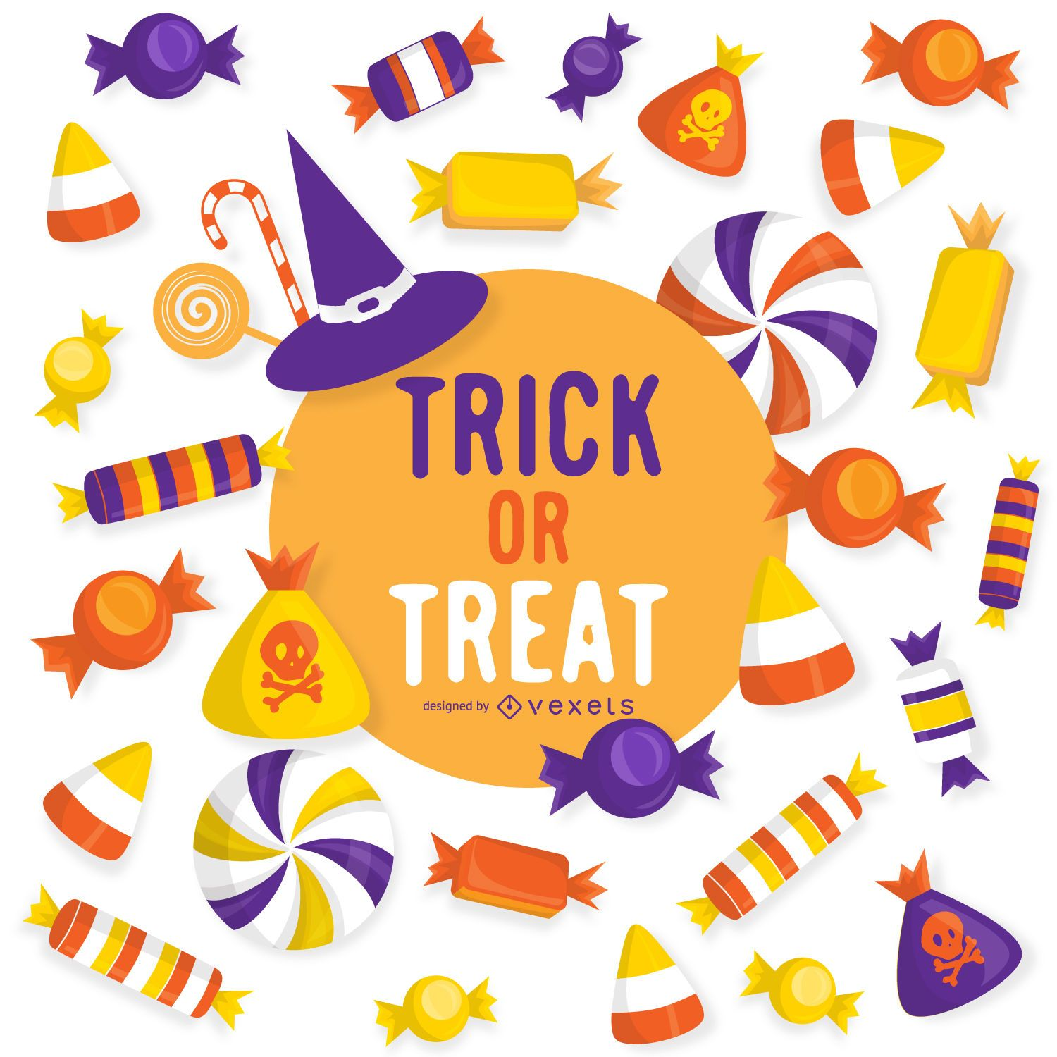 Halloween Trick Or Treat Design