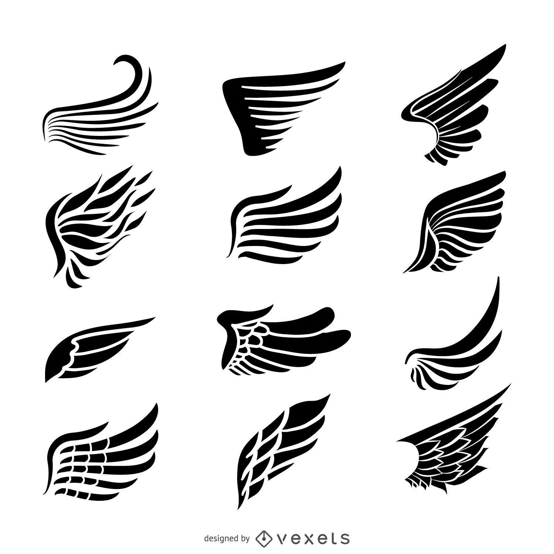 Etiqueta Asas Jogo Do Molde Do Logotipo