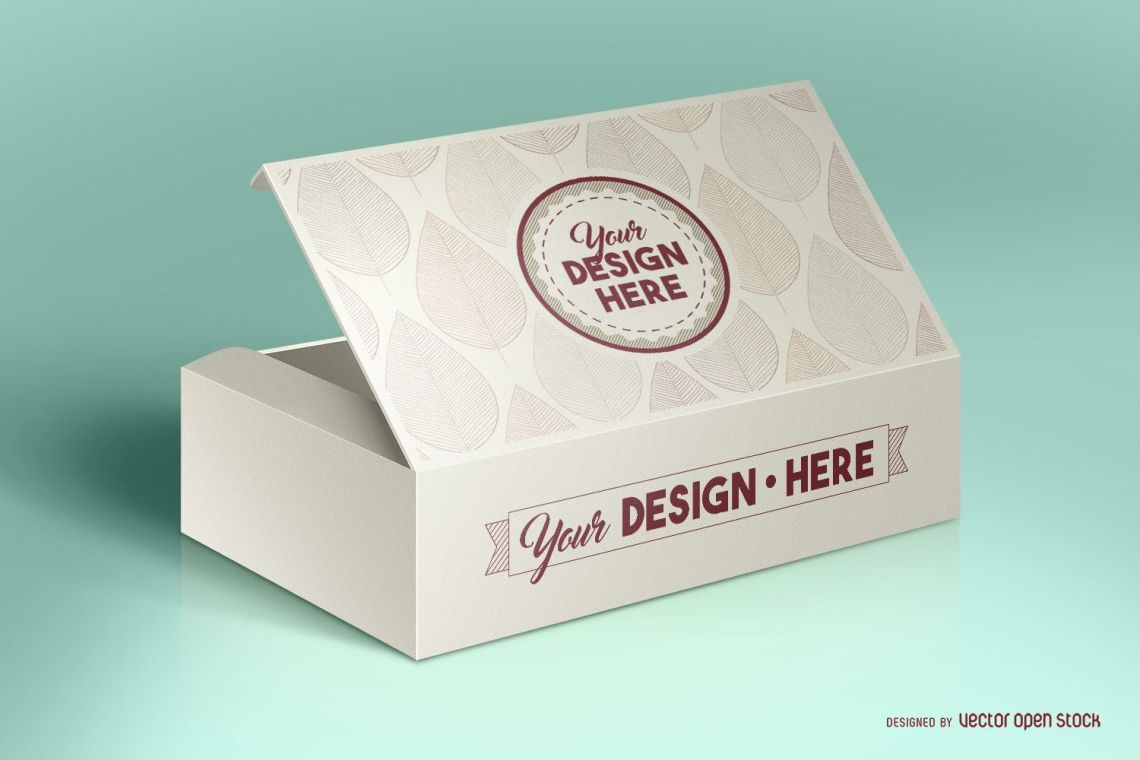 Download Box packaging mockup PSD - Vector download
