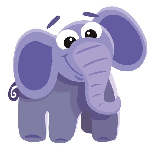 Funny Elephant Cartoon Transparent Png Svg Vector File
