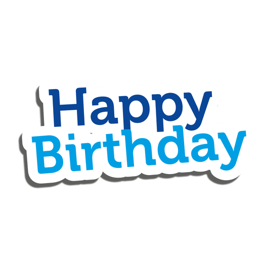 Happy Birthday Sticker Transparent Png Amp Svg Vector