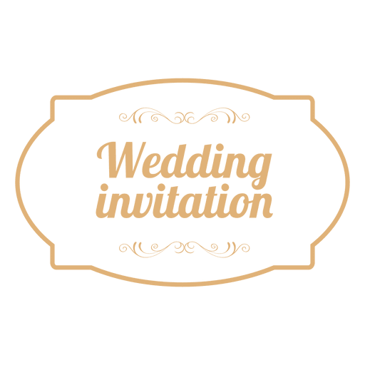Wedding Invitation Badge 3