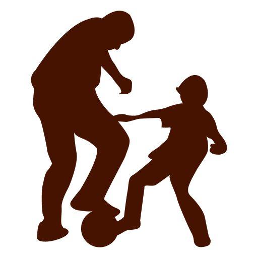 Download Dad kid playing football family - Transparent PNG & SVG ...