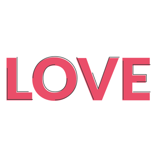 Download Sans serif geometric pink love - Transparent PNG & SVG ...