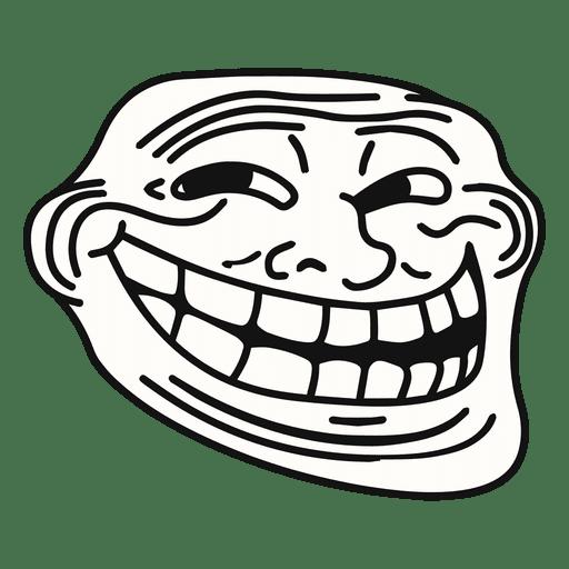 Coolface Trollface Meme Transparent Png Svg Vector File