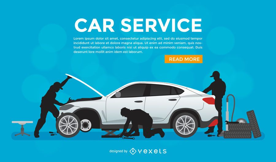 Car Fix Service Promotional Poster Vector Download