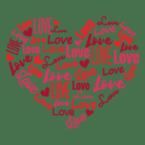 Download Love inscribed heart sticker - Transparent PNG & SVG ...