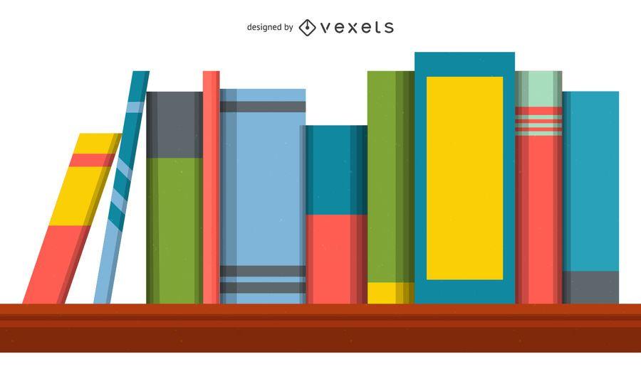 Estantería De Libros Ilustración