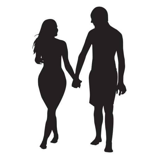Download In love couple silhouette - Transparent PNG & SVG vector file