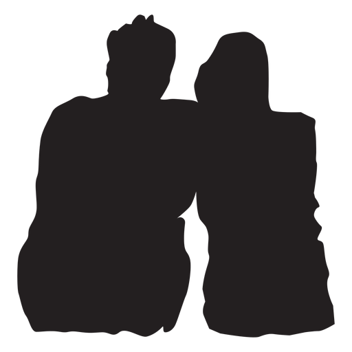 Download Couple sweet moment silhouette - Transparent PNG & SVG ...