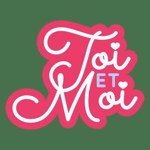 valentine french toi et moi heart badge