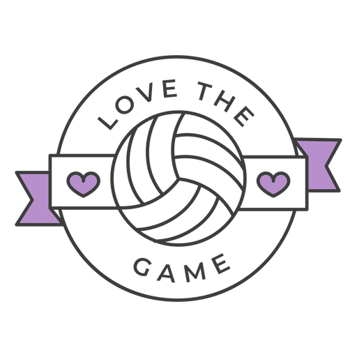 Download Love the game ball heart colored badge sticker ...