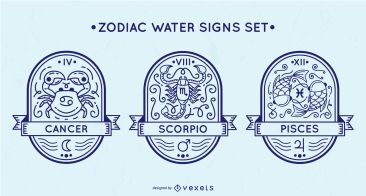 Zodiac Water Signs Set - Vector Download
