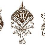 Pacote De Design Ornamental De Tatuagem De Henna Baixar Vector