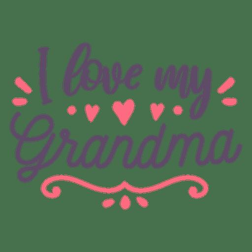 Love grandma lettering - Transparent PNG & SVG vector file
