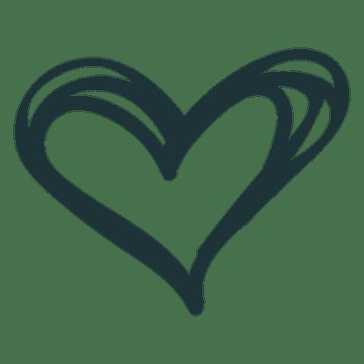 Download Doodle heart cute love - Transparent PNG & SVG vector file