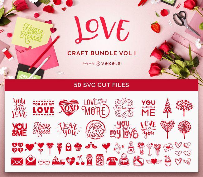 Download Love Crafts SVG Bundle Vol. I - Descargar vector