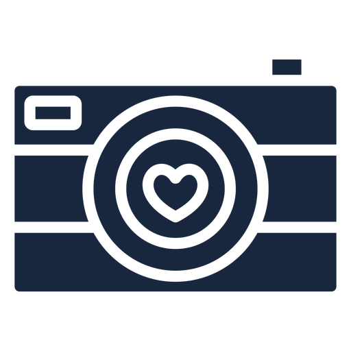 Download Love camera blue icon - Transparent PNG & SVG vector file