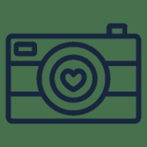 Download Love camera stroke - Transparent PNG & SVG vector file