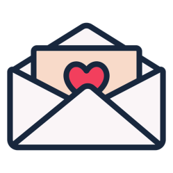 Love letter stroke icon - Transparent PNG & SVG vector file