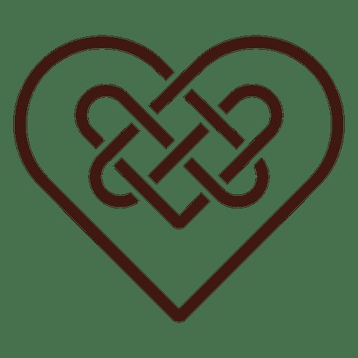 Download Celtic heart knot - Transparent PNG & SVG vector file