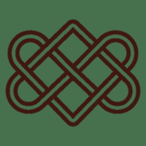 Download Celtic love knot stroke - Transparent PNG & SVG vector file