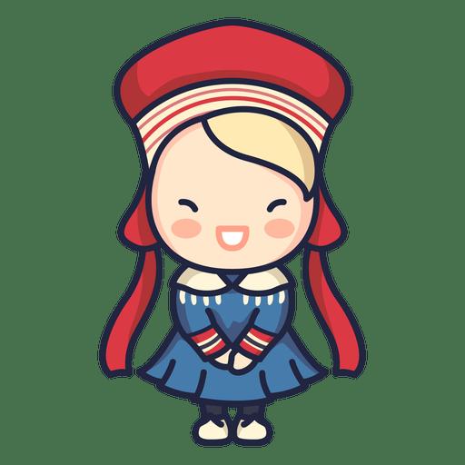 Cute Norwegian Man Folklore Character Transparent Png Svg