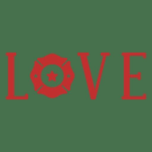Download Love firefighter badge - Transparent PNG & SVG vector file