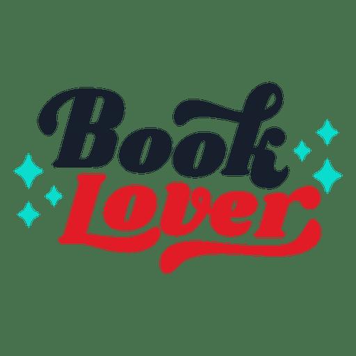 Download Book lover lettering - Transparent PNG & SVG vector file