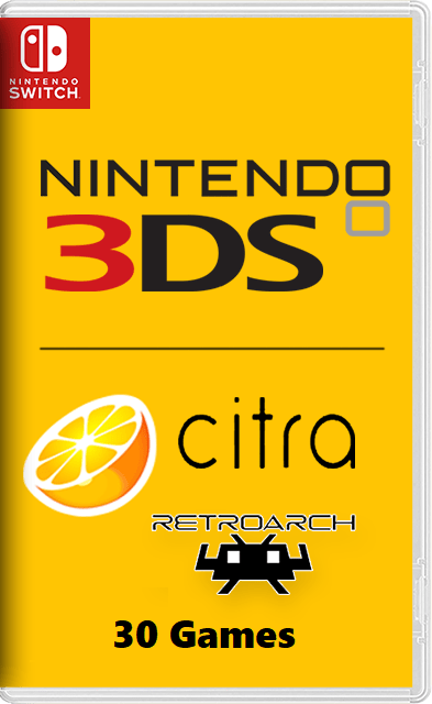 Citra - Nintendo 3DS emulator + 30 Games for Switch NSP