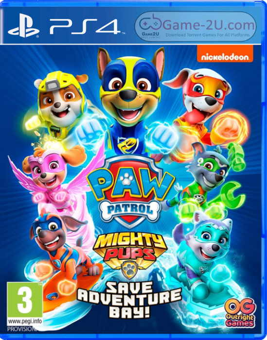 PAW Patrol Mighty Pups Save Adventure Bay PS4 PKG