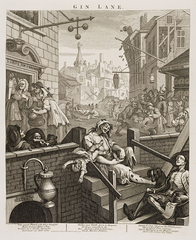 Image result for william hogarth gin lane