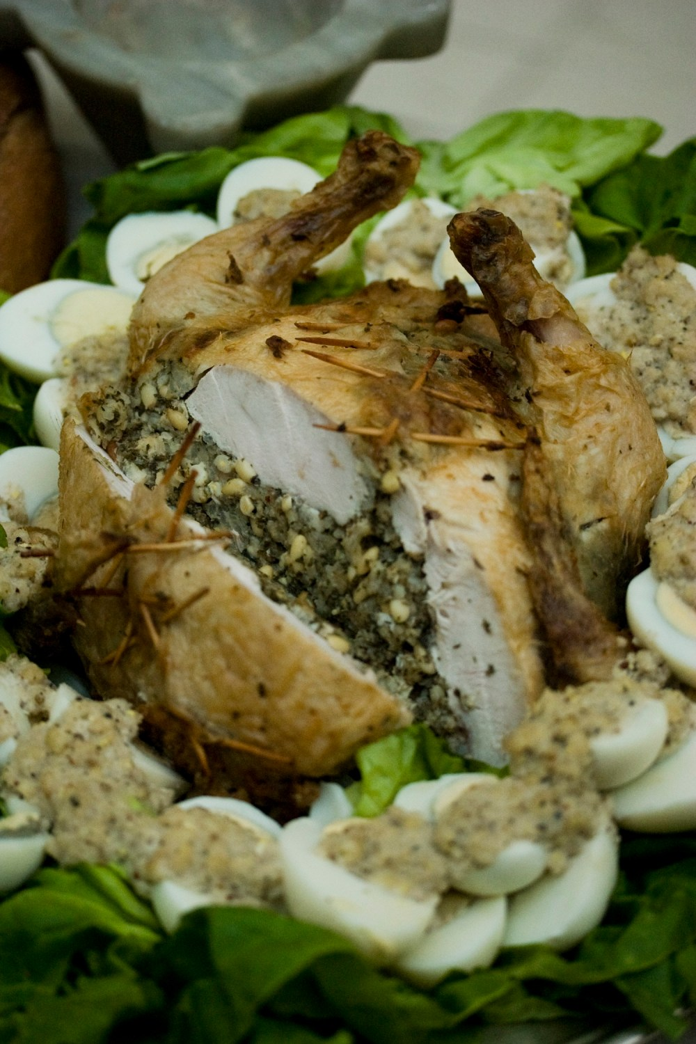 Stuffed Chicken, one of Apicius's recipes. Image via Flickr user vintagedept.