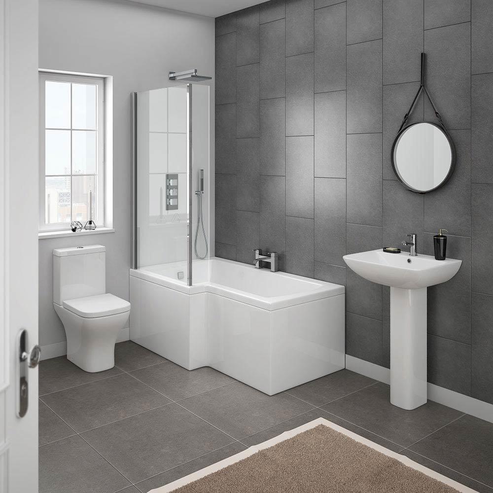 Milan Modern Shower Bath Suite | Online At Victorian ...
