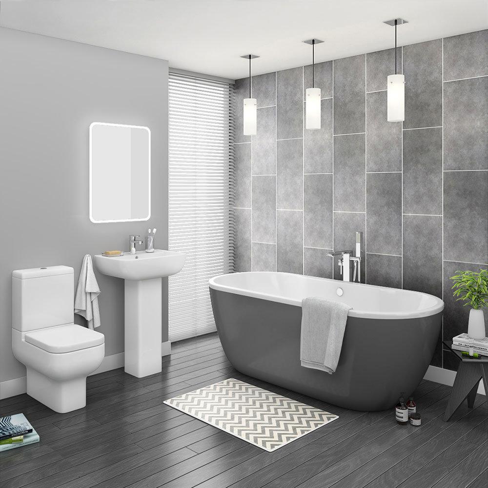 Pro 600 Grey Modern Free Standing Bath Suite | Victorian ...