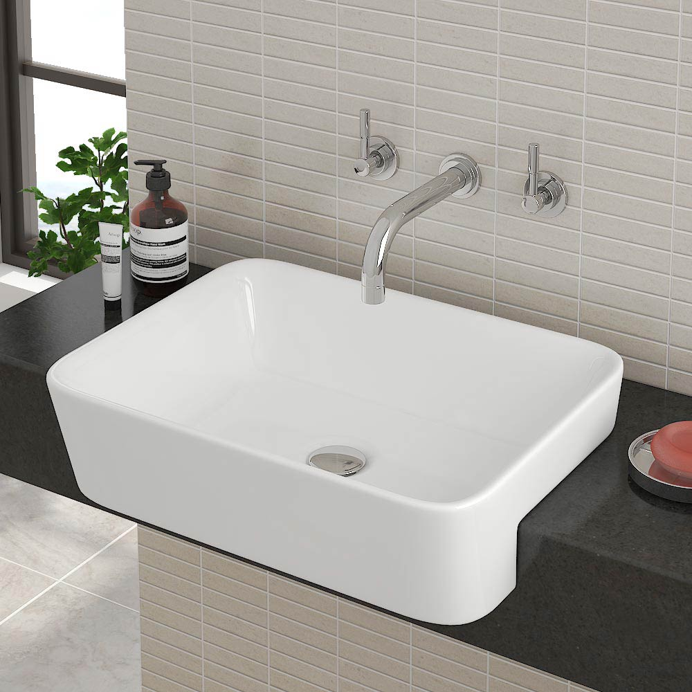 Salou Semi Recessed Basin Available From Victorian Plumbing Co Uk