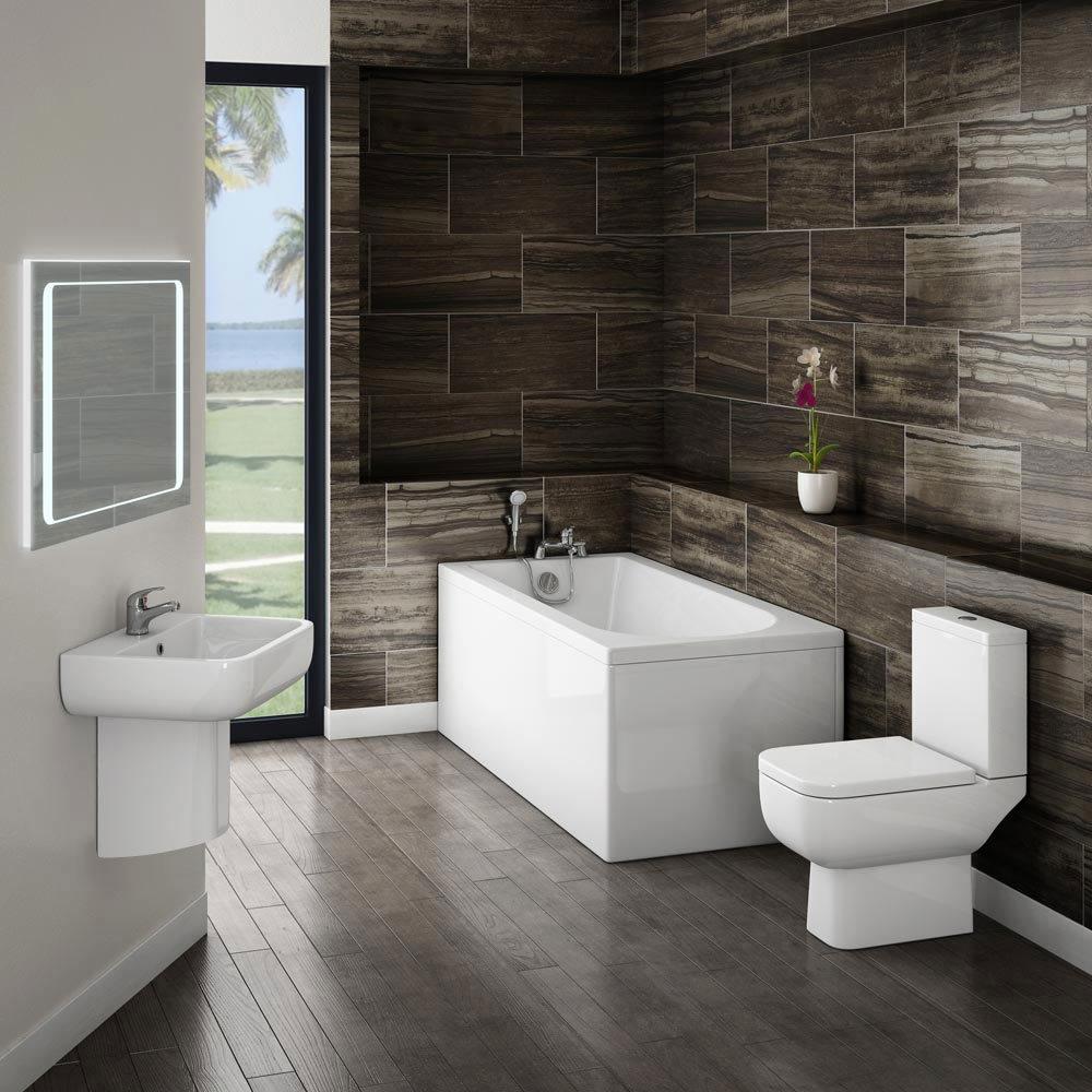 Small Modern Bathroom Suite at Victorian Plumbing UK