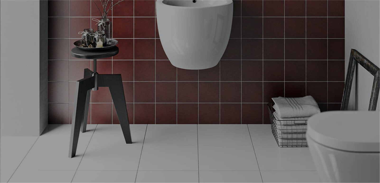 i fit the toilet before or after tiling