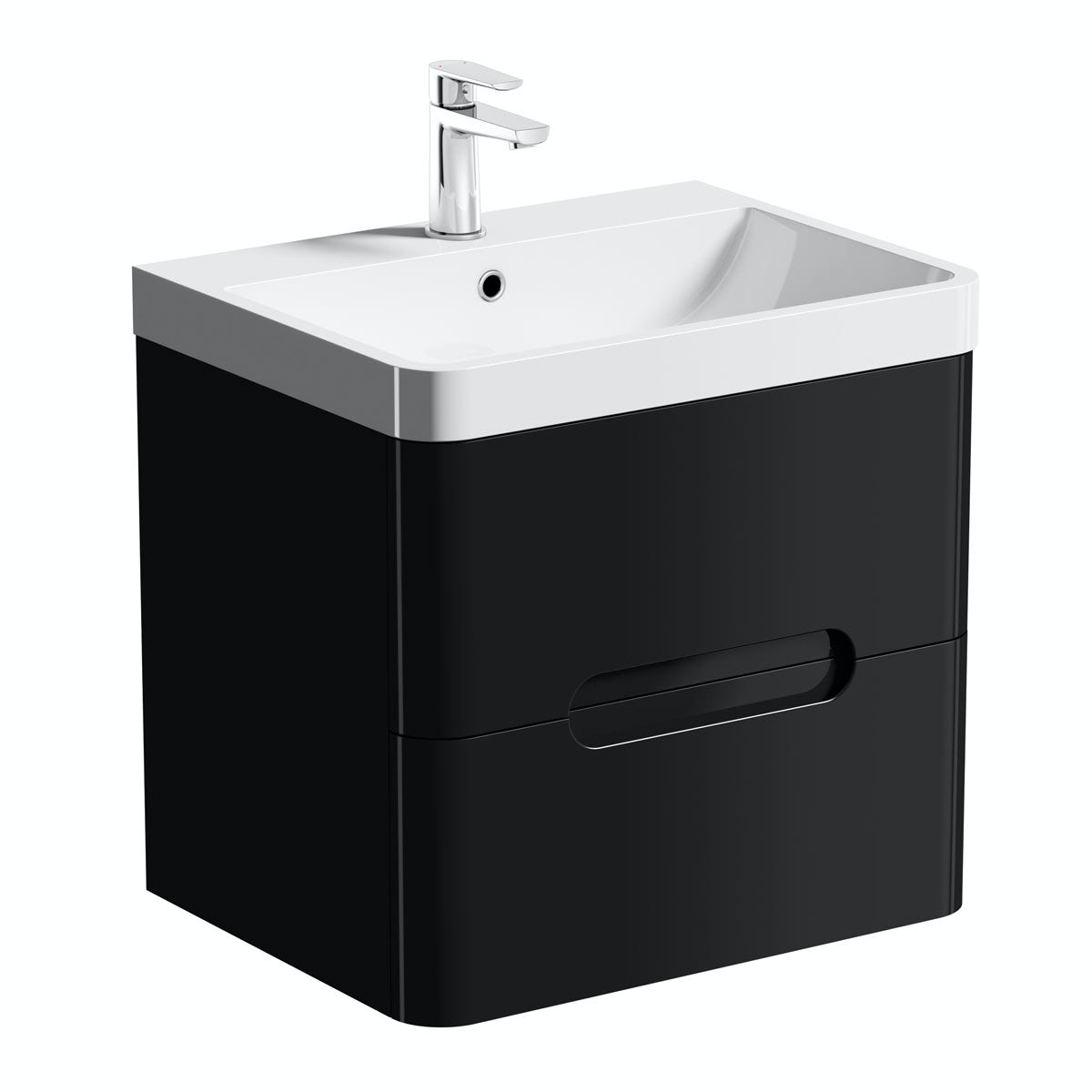 Mode Planet Black Wall Hung Vanity Drawer Unit And Basin 600mm Victoriaplum Com