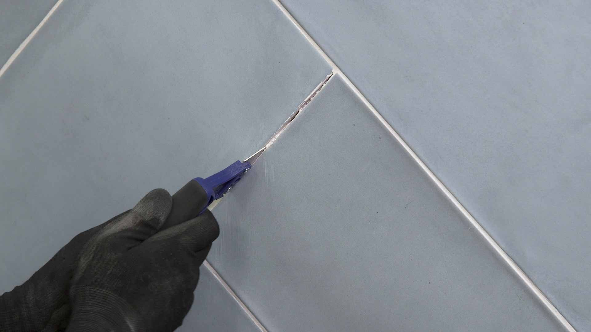 to regrout kitchen or bathroom tiles