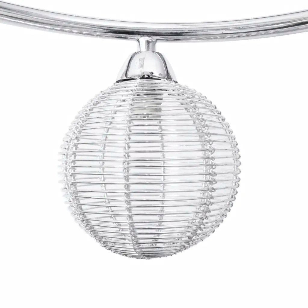 Ceiling Lamp Mesh Wire Shades On Round Rail For 3 G9 Bulbs