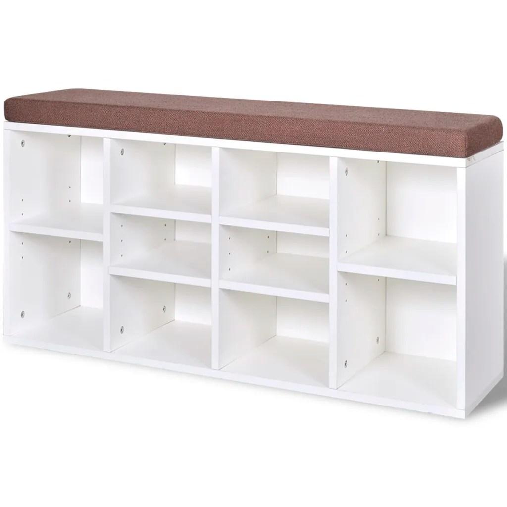 Shoe Storage Bench 10 Compartments White Www Vidaxl Com Au